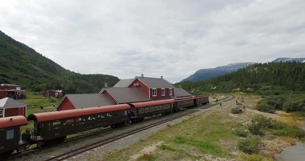White Pass & Yukon Route Train at Bennett