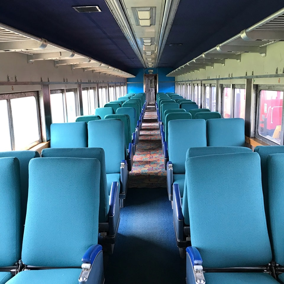 Oklahoma Railway Museum Passenger Car Interior
