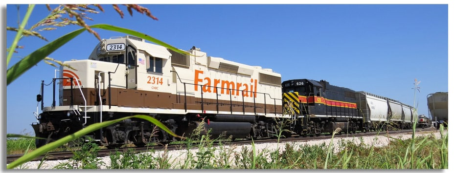 Farmrail Train on Tracks