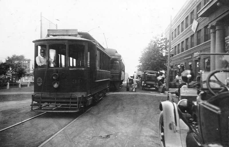 Interurban Car in 1915 in Downtown El Reno