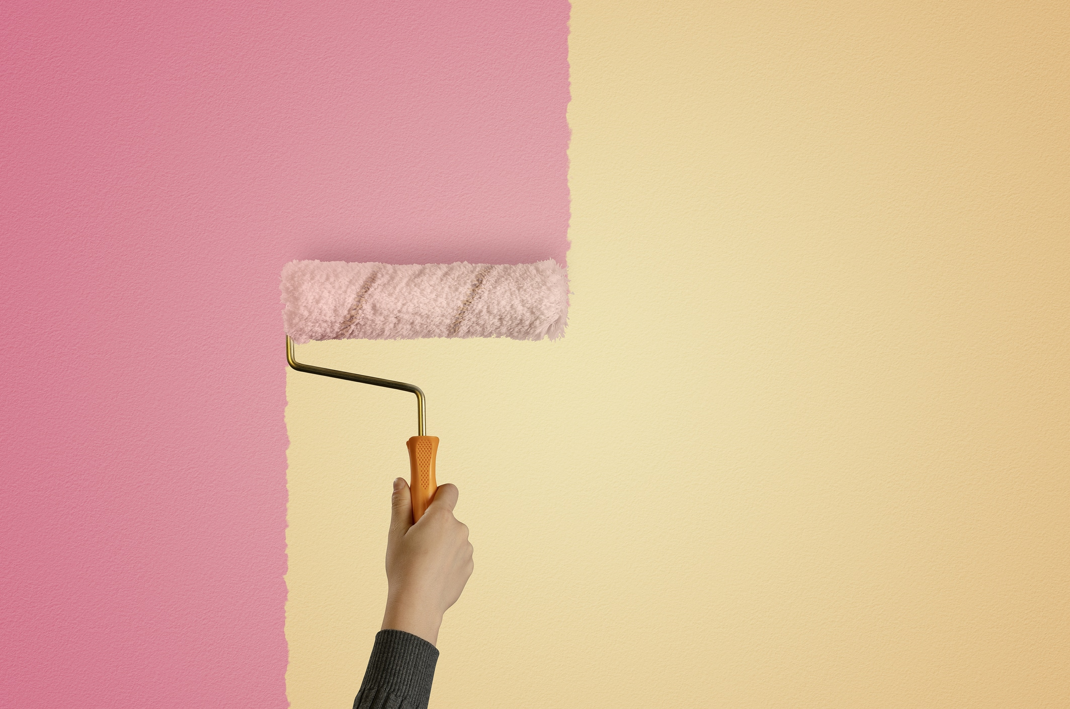 DIY, Home Improvement, Renovation, Paint Roller, Wall - Building Feature