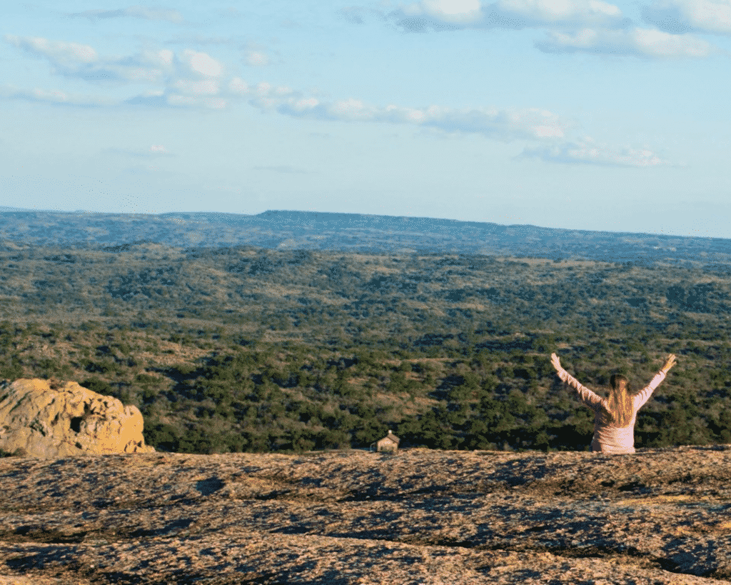 A scenic view from Enchanted Rock.