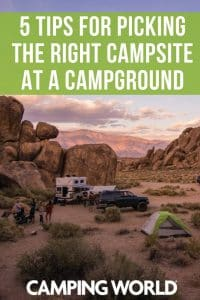 5 tips for picking the right campsite at a campground