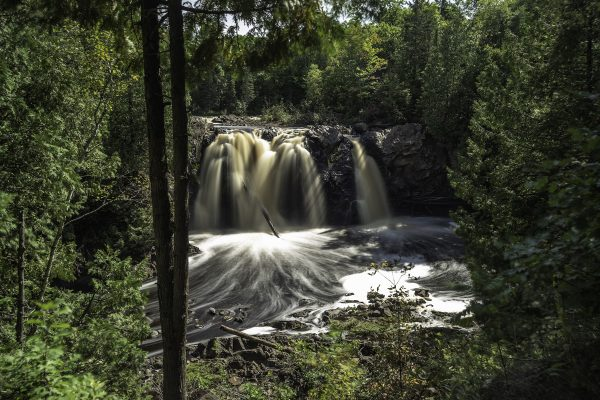 Little Manitou Falls is a 30 foot drom into the Black River in Wisconsin's Pattison State Park
