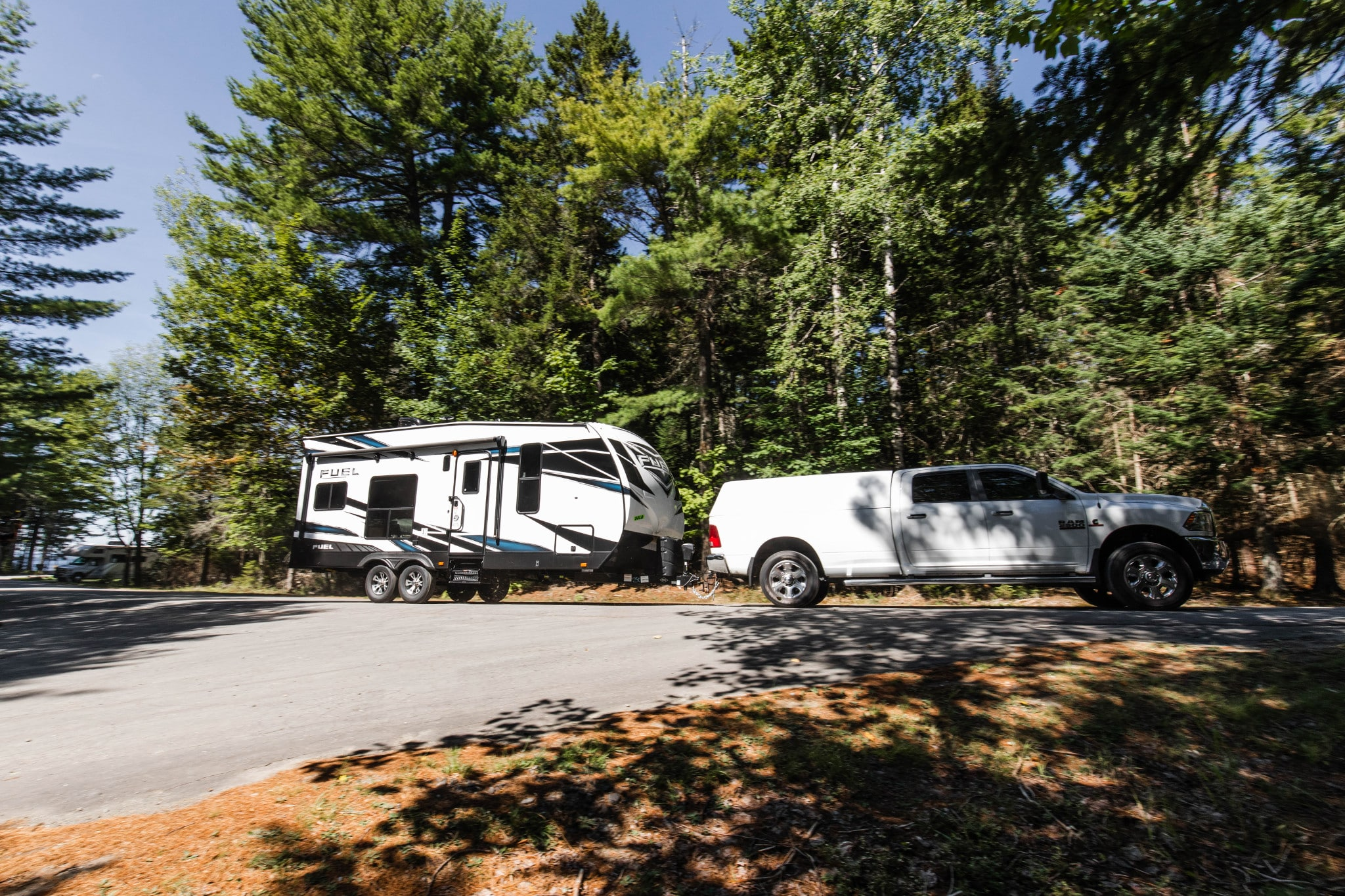 towable RV driver taking things slow