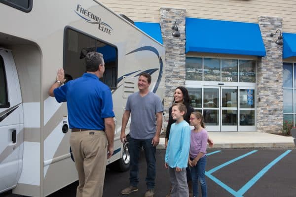 RV Salesperson with Family