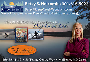 Weekly updates by Betsy Spiker Holcomb of Taylor-Made Vacations and Sales, Deep Creek Lake.