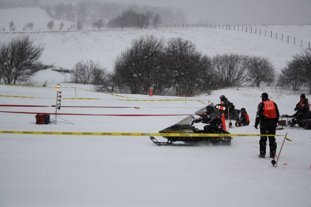 Snowmobile Drag Races Deep Creek Lake