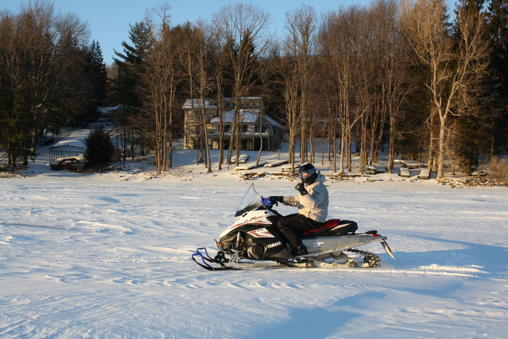 Deep Creek Lake-Snowmobile Warnings