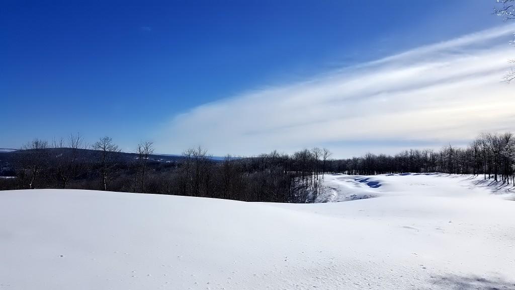 Lodestone Golf Club- Winter Time- Snow Art