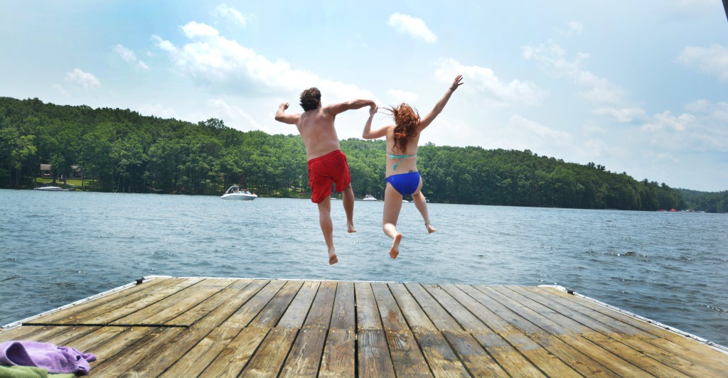 Swimming at Deep Creek Lake
