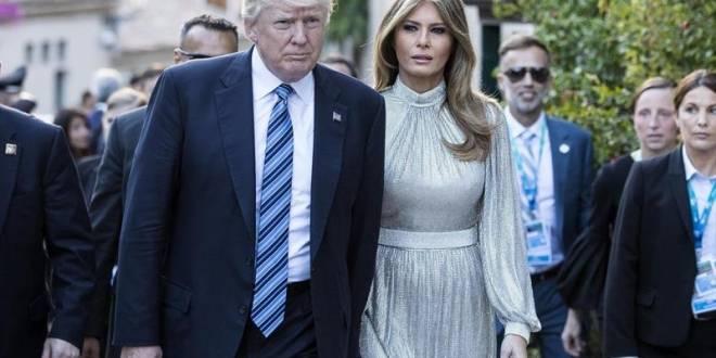 El presidente de los Estados Unidos, Donald Trump (i), y la primera dama, Melania Trump. EFE