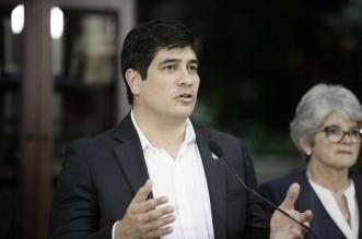 El presidente de Costa Rica, Carlos Alvarado. Archivo