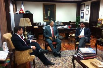 Reunión del PUSC con el Presidente Solís.