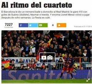 El diario deportivo Olé, de Argentina.