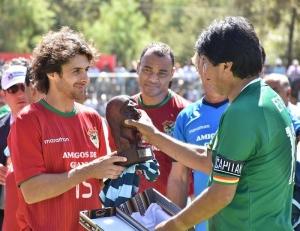 Partido Infantino-Evo Morales