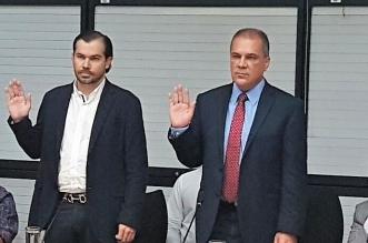 Juan Carlos Bolaños y Guillermo Quesada en comparecencia legislativa