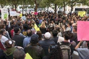 Concentración anti Trump en el condado de Miami Dade, Florida, USA. EFE