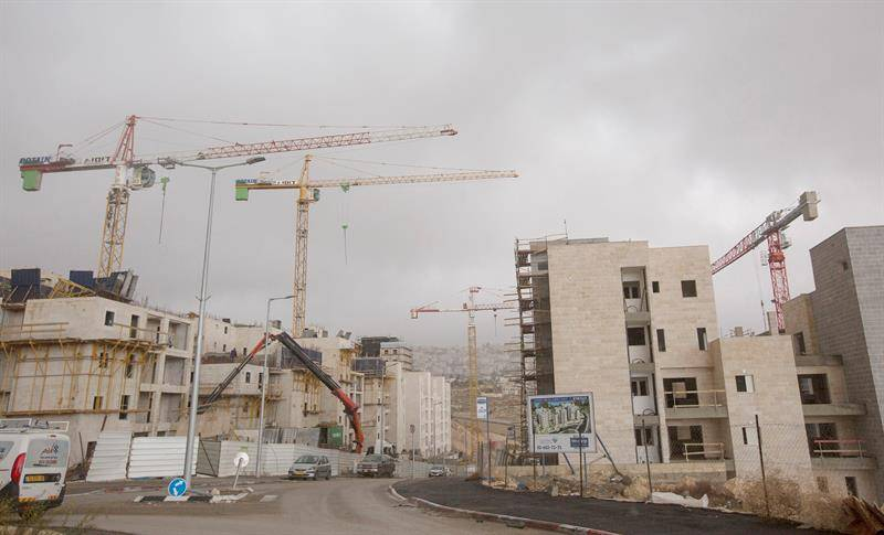 Construcciones ilegales de Israel en territorio de Palestina. EFE