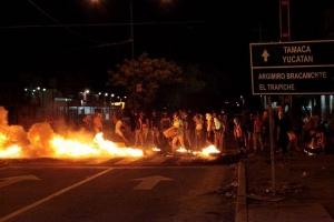 Disturbios opositores en Caracas. EFE