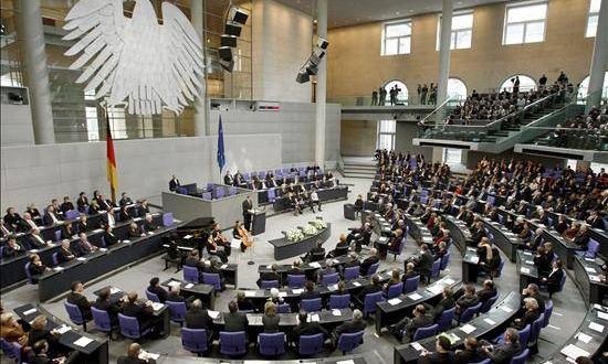 El Bundestag,, Parlamento alemán. Archivo