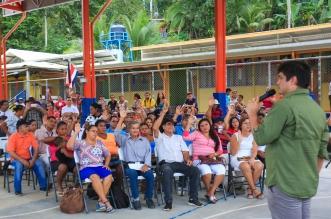 El Presidente Carlos Alvarado da seguimiento al trabajo por emergencia de las lluvias en el Caribe. Cortesía