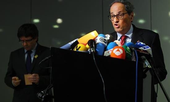 El presidente de la Generalitat de Cataluña, Quim Torra. Archivo