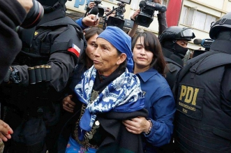 Francisca Linconao, una machi (chamán) mapuche. Redes