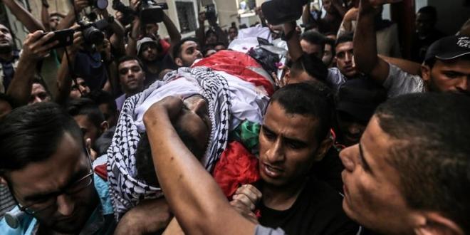 Funeral de un paramédico palestino en Gaza, Palestina. Archivo