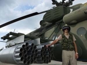 Helicóptero MI-24 en Siria.  Sputnik Dmitry Vinogradov
