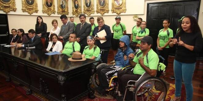 Conferencia de Prensa del Movimiento de Vida Independiente para Personas con Discapacidad de Costa Rica. 5/5/2016.