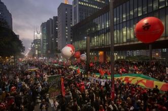 Manifestación en apoyo del expresidente brasileño Luiz Inácio Lula da Silva. EFE/Elpaís.cr