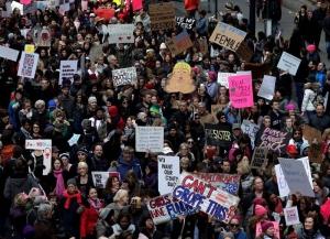 Marcha de la mujeres contra Donald Trump en Nueva York, USA. EFE.