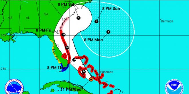 Matthew golpeó Cuba el martes tras un devastador paso por Haití y golpeará Florida. NOAA