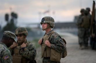 Militares EEUU cerca del muro fronterizo del Puerto de Entrada Otay Mesa, en San Diego. Archivo