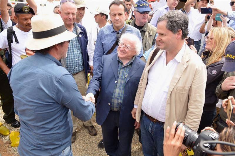 Presidente de Irlanda visita zona de agrupamiento de las FARC en Colombia. EFE