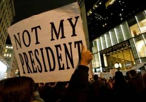 Protesta en Nueva York contra la elección de Donald Trump como Presidente de Estados Unidos. EFE