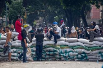Protesta opositora en Municipio de Chacao, Caracas, Venezuela. EFE