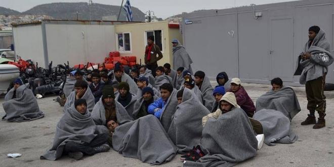 Refugiados paquistaníes en Lesbos, Grecia. EFE