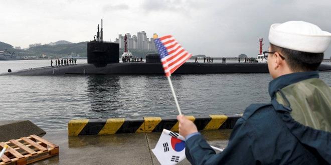 Submarino USS Michigan en Busan, Corea del Sur. U.S. Navy Jermaine Ralliford