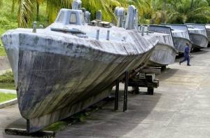 Submarinos capturados con droga en Colombia. Redes
