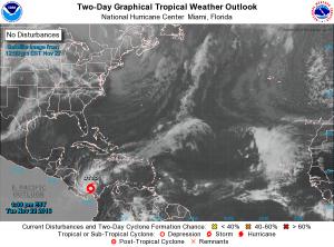 Ubicación actual de la tormenta Otto. NHC