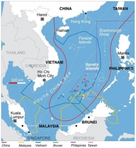 Zona de disputas en el Mar de China Meridional. Sputnik