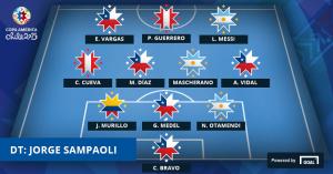 El once ideal de la Copa América. Foto ca2015.com