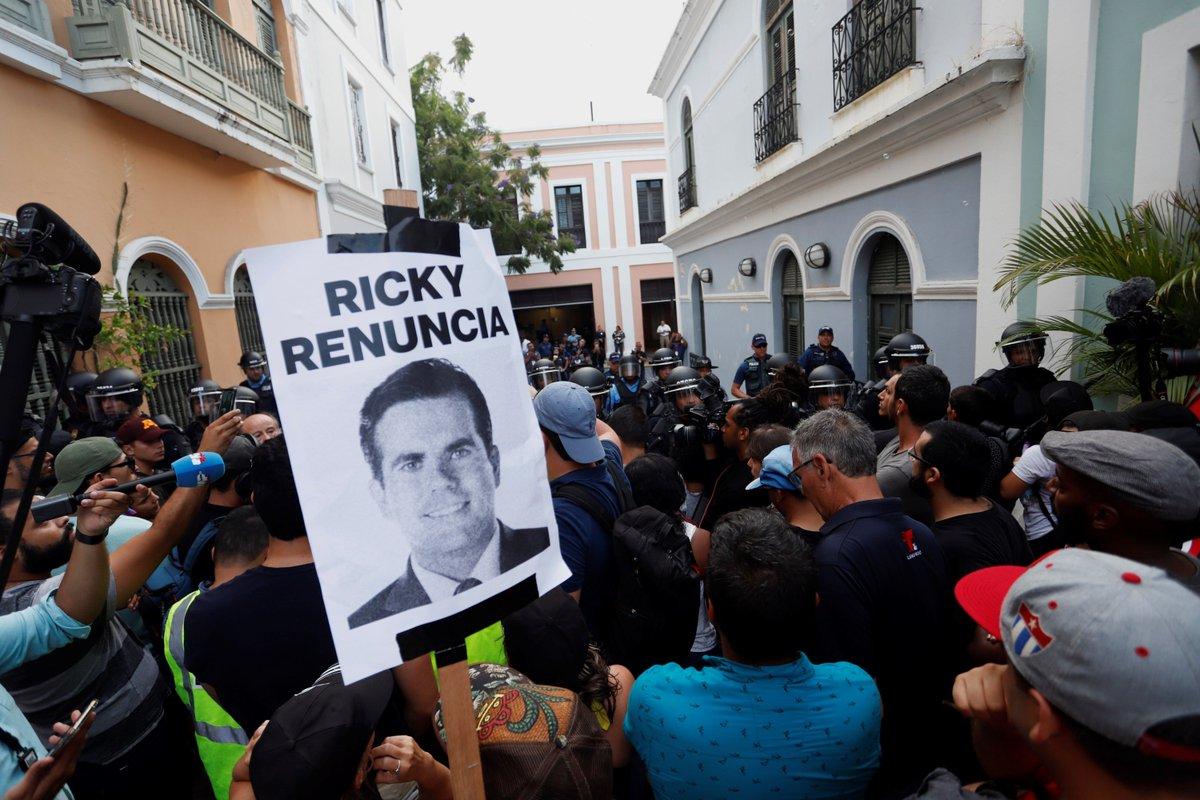 Resultado de imagen para renuncia gobernador de puerto rico
