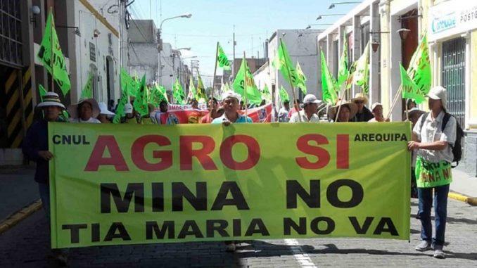 Resultado de imagen para Autoridades confirman paro indefinido en protesta por megaproyecto minero en sur de Perú