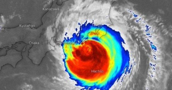 El tifón Faxai. Twitter