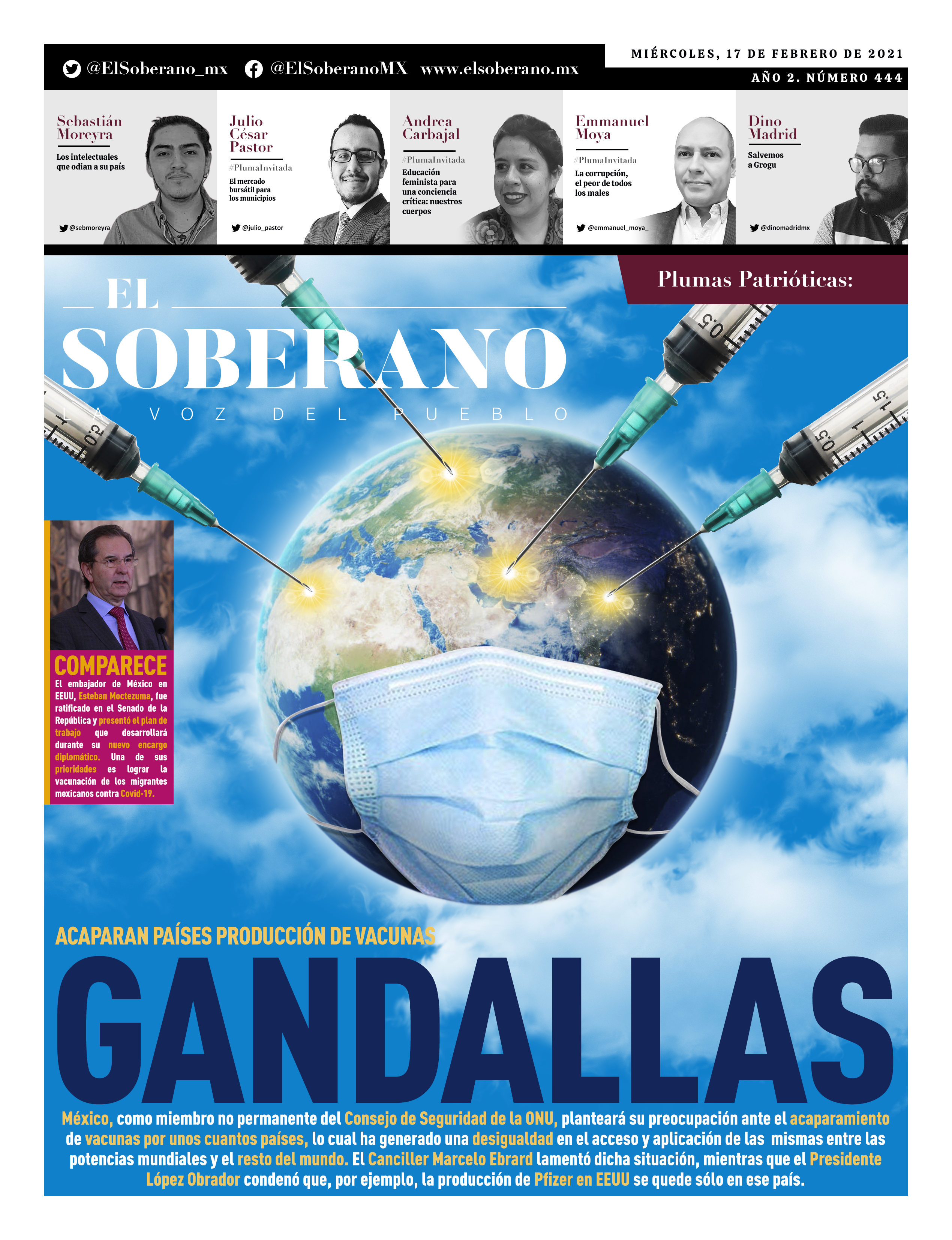 Acaparan países producción de vacunas GANDALLAS