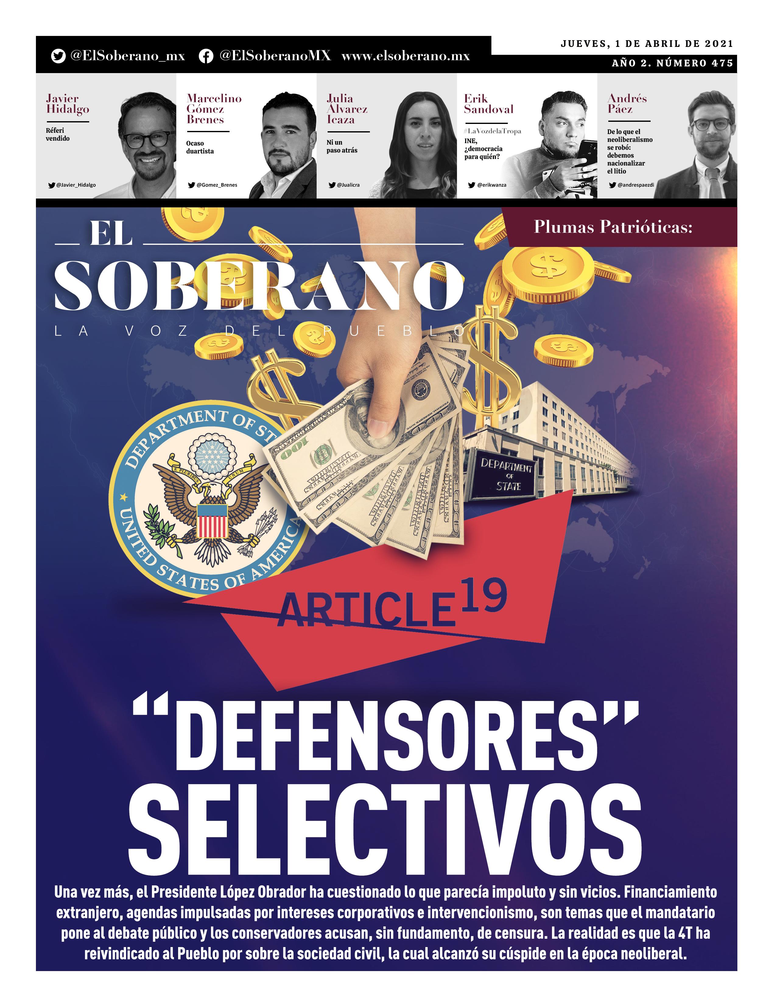"""""""Defensores"""" selectivos"""