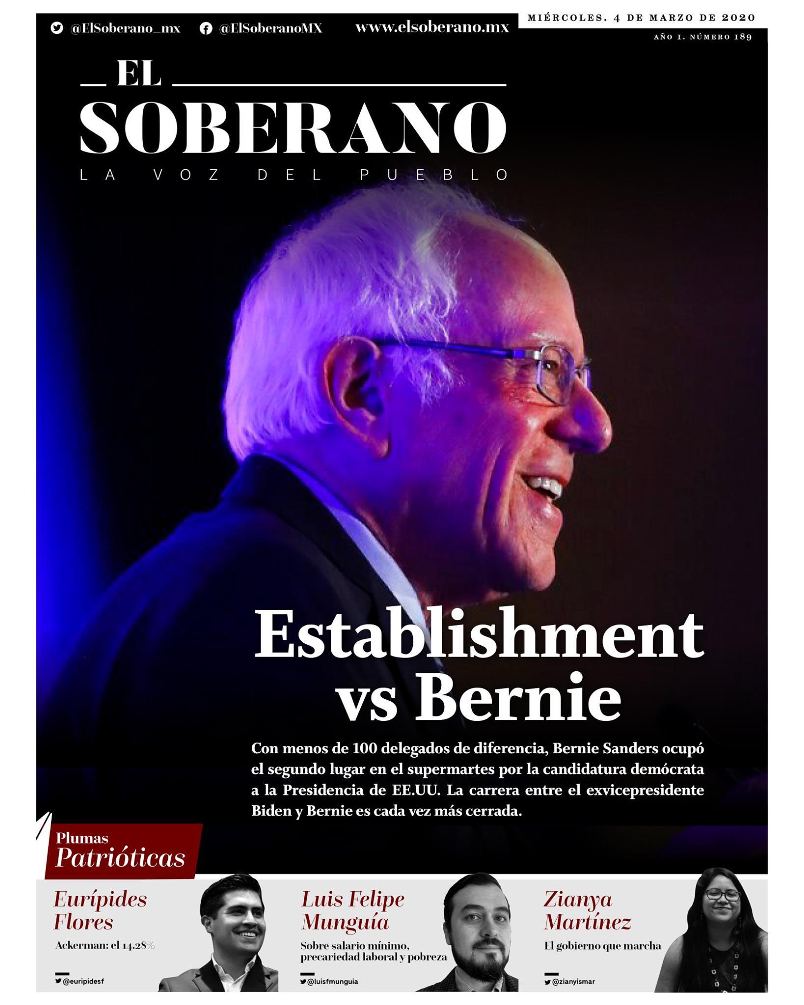 Establishment vs Bernie